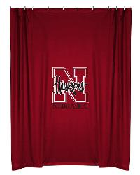 Nebraska Cornhuskers Locker Room Shower Curtain by