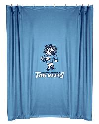 North Carolina Tar Heels Locker Room Shower Curtain by