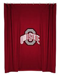 Ohio State Buckeyes Locker Room Shower Curtain by