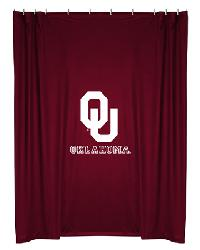 Oklahoma Sooners Locker Room Shower Curtain by