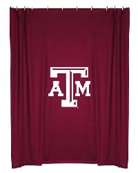 Texas AM Aggies Locker Room Shower Curtain by