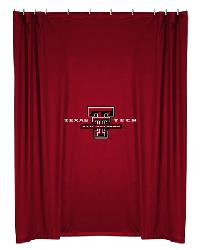 Texas Tech Red Raiders Locker Room Shower Curtain by