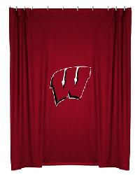 Wisconsin Badgers Locker Room Shower Curtain by