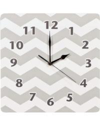 Dove Gray Chevron Wall Clock by