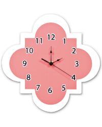 Coral Quatrefoil Wall Clock by