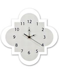Gray Quatrefoil Wall Clock by