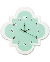 Mint Quatrefoil Wall Clock by