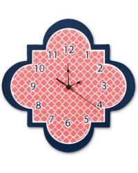 Multi Quatrefoil Wall Clock by