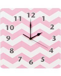 Pink Sky Chevron Wall Clock by