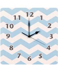 Blue Sky Chevron Wall Clock by