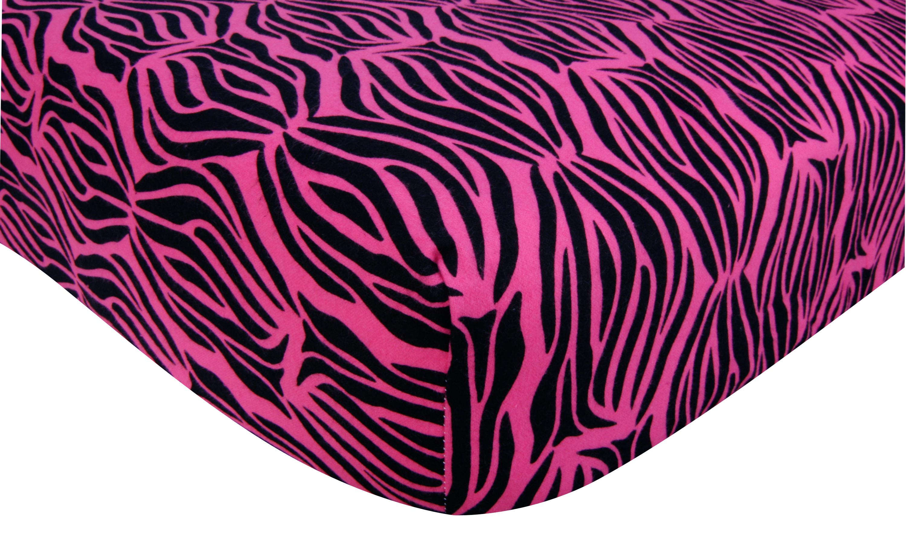 Crib Sheet Zebra Print Pink Flannel Trend Lab