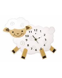 Wall Clock Baby Barnyard Lamb by