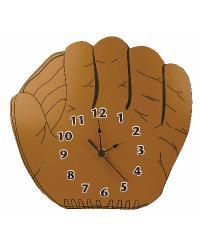 Wall Clock Baseball Glove by