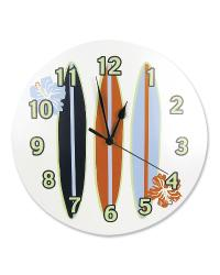 Wall Clock Surfs Up by