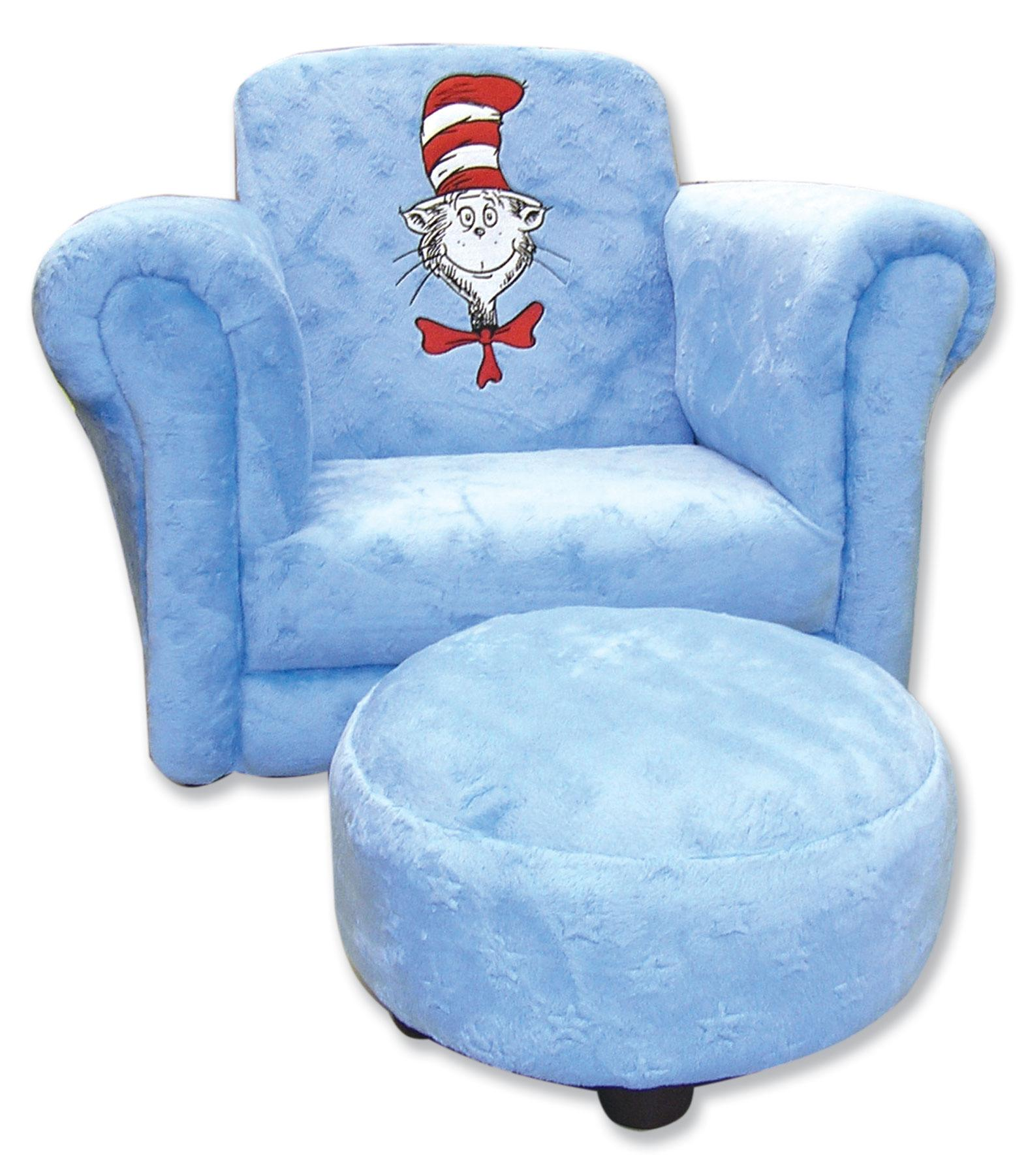 Trend Lab Dr. Seuss Cat In The Hat Blue Chair With Ottoman Search Results