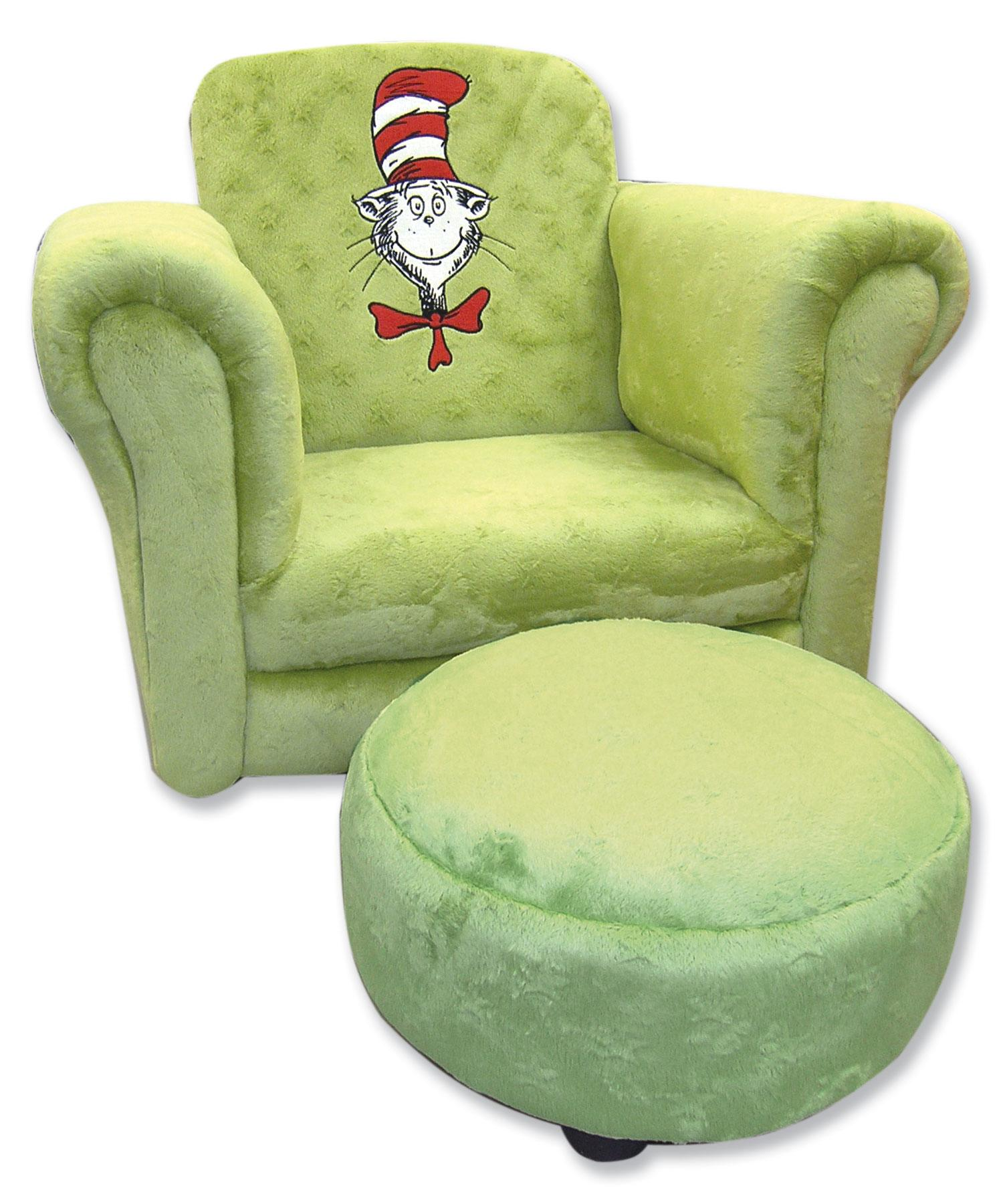 Trend Lab Dr. Seuss Cat In The Hat Sage Chair With Ottoman Search Results