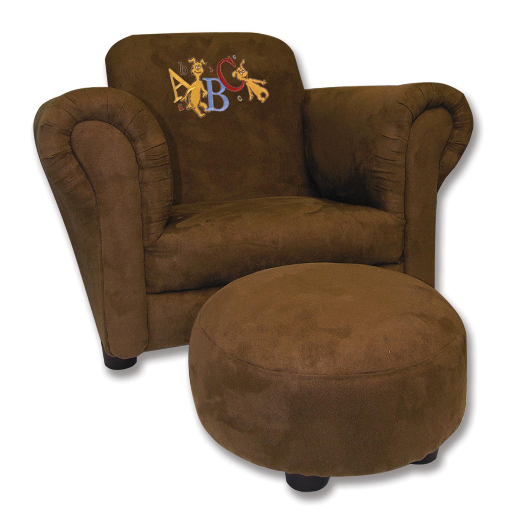 Captivating Trend Lab Dr. Seuss ABC Brown Suede Chair With Ottoman Search Results