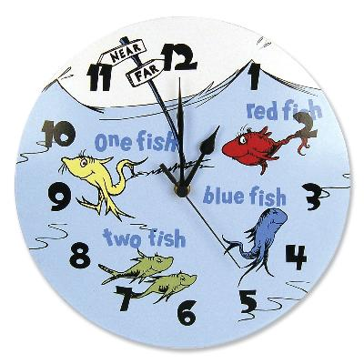 Trend Lab Dr. Seuss One Fish, Two Fish Wall Clock  Search Results