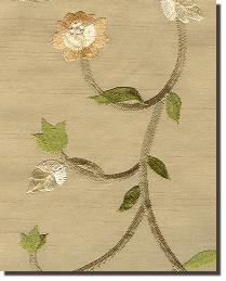Green Small Print Floral Fabric  Oriana-Sage