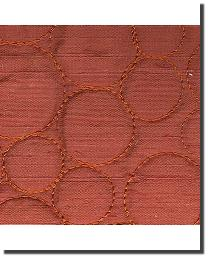 Catania Silks Bubble Embroidery Sienna Fabric