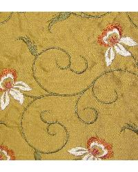 Catania Silks Vine and Roses Gold Fabric