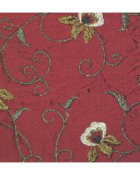 Catania Silks Vine and Roses Lacquer Red Fabric