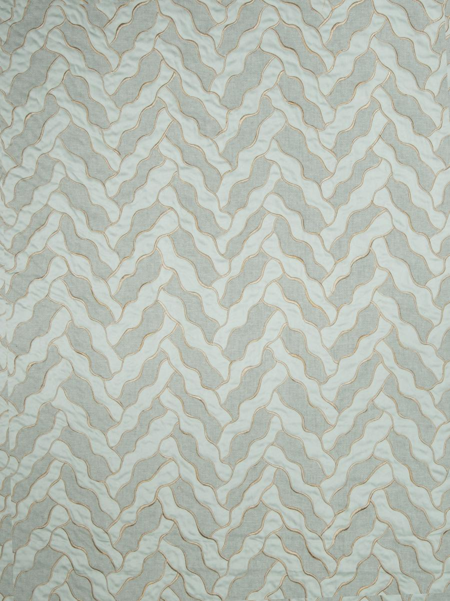 Collier campbell fabrics mercury embroidery duck egg