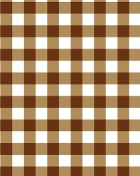 David Textiles Gingham Checks Brown Flannel Fabric