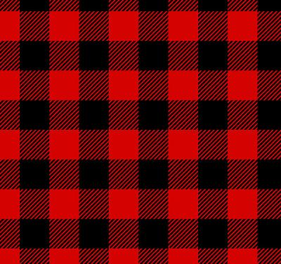 Lumberjack Plaid Red Black Flannel