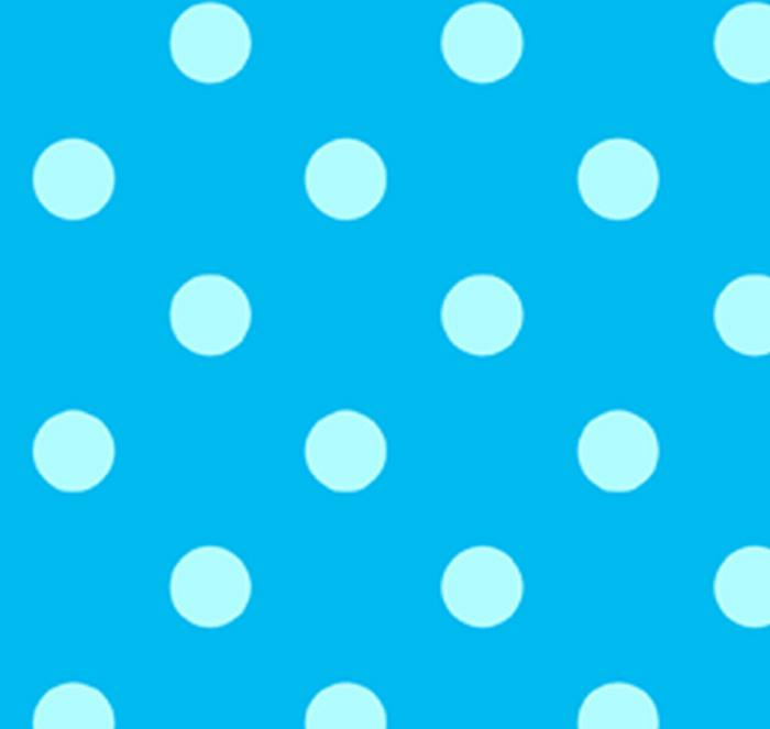 Polka Dots Turquoise Flannel