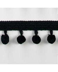 1 3/4in Chenille Ball Fringe Black by