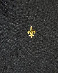 Black Fleur de Lis Fabric  Fleur De Lis 1828