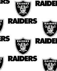 Oakland Raiders Cotton Print by