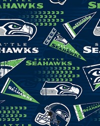 Seattle Seahawks Cotton Print by