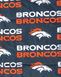 Denver Broncos Cotton Print by