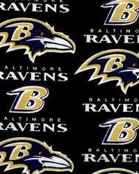 Baltimore Ravens Cotton Print Black by