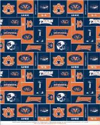 Auburn Tigers Block Fleece by