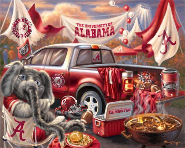 Foust textiles inc fabrics alabama crimson tide tailgate for Alabama football wall mural