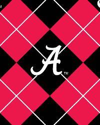 College Fleece Fabric  Alabama Argyle Fleece