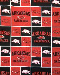 Arkansas Razorbacks Cotton Print by