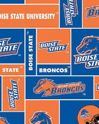 Beige College Fleece Fabric  Boise State Broncos Block Fleece