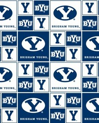 Brigham Young Cougars Cotton Print by