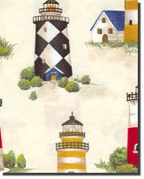 Foust Textiles Inc Lighthouse Multi Fabric
