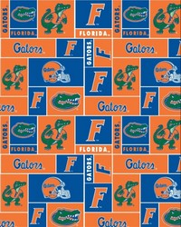 College Fleece Fabric  Florida Gators Block Fleece