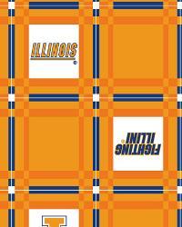 Foust Textiles Inc Illinois Illini Vinyl Tablecloth Fabric