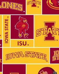 College Fleece Fabric  Iowa State Cyclones Block Fleece