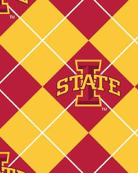 Beige College Fleece Fabric  Iowa State Cyclones Argyle Fleece