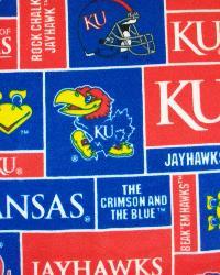 Kansas Jayhawks Block Fleece by