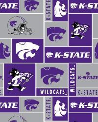 College Fleece Fabric  Kansas State Wildcats Block Fleece