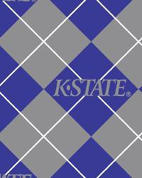 Beige College Fleece Fabric  Kansas State Wildcats Argyle Fleece